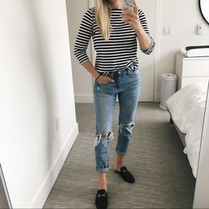 ✨✨✨HOST PICK✨✨✨Striped sleeve top